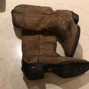 Tony Lama brown western boots TLX Size 9 EE